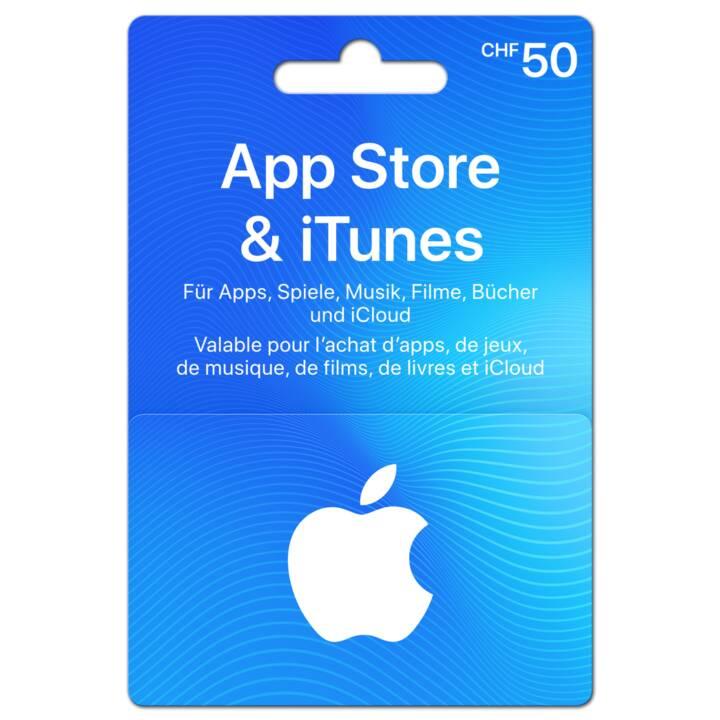 Geschenkkarte für App Store & iTunes über CHF 50
