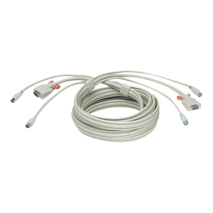 Câble de rallonge LINDY Premium Clavier/Vidéo/Souris (KVM), 3 m