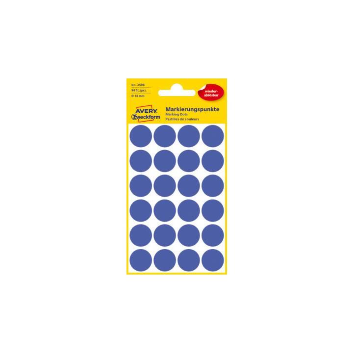 AVERY ZWECKFORM Markierungspunkte Etiketten 18 mm
