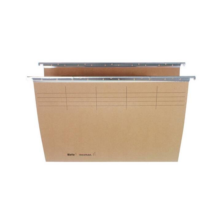 BIELLA Boîtes pour dossiers suspendus (A4, Brun, 1 pièce)