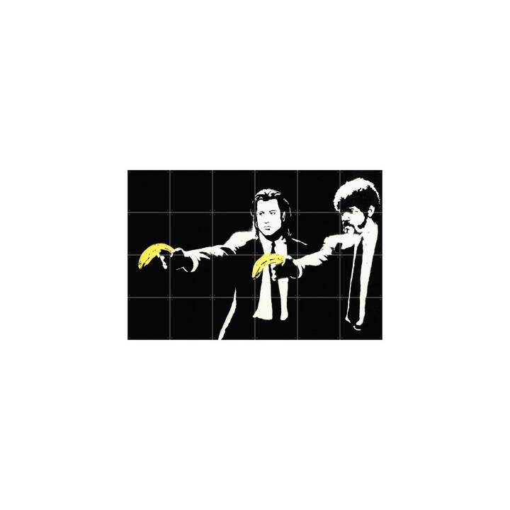 IXXI Tattuaggio da parete Pulp Fiction (Nero, Bianco, Giallo)