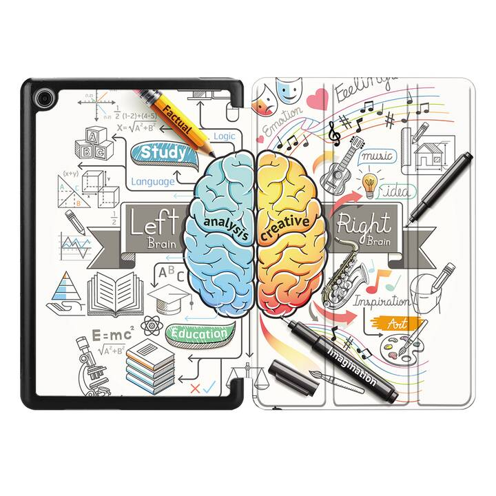 "EG MTT Hülle für HUAWEI MediaPad M5 Lite 10.1"" 2018 - Gehirn"