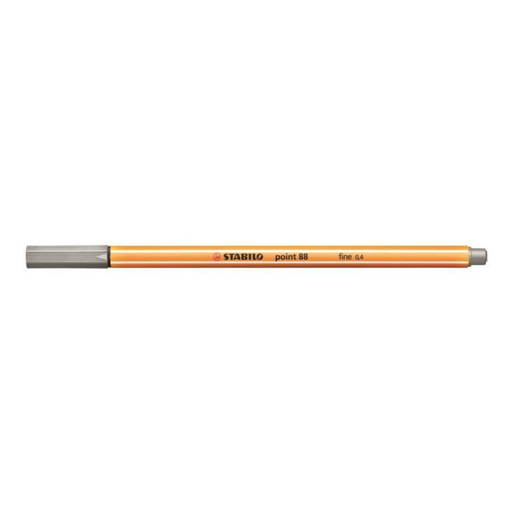 STABILO pointe fine 88 0,4mm gris clair