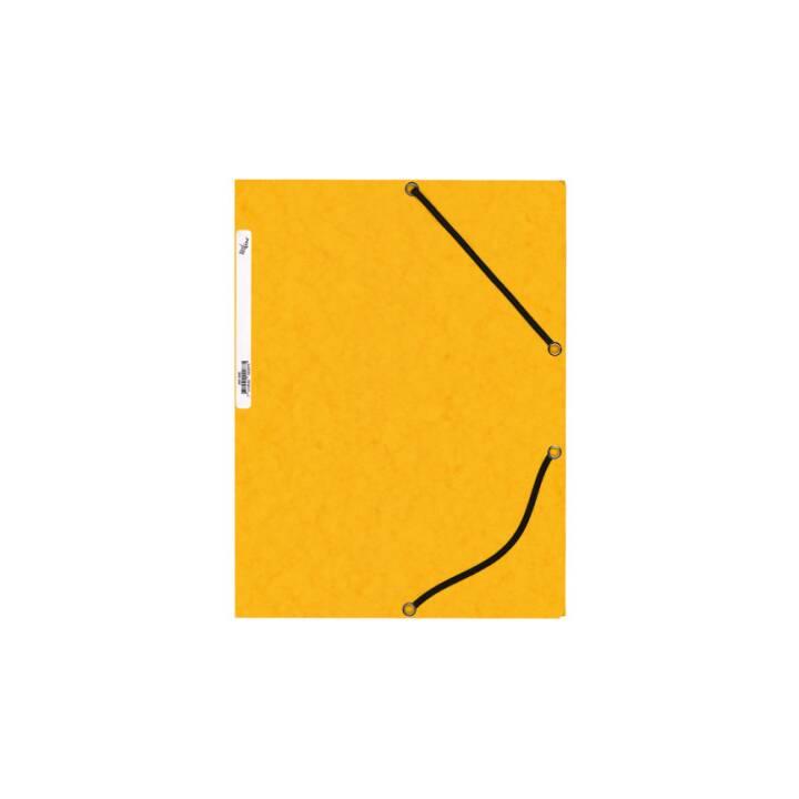 BÜROLINE Gummibandmappe A4 gelb