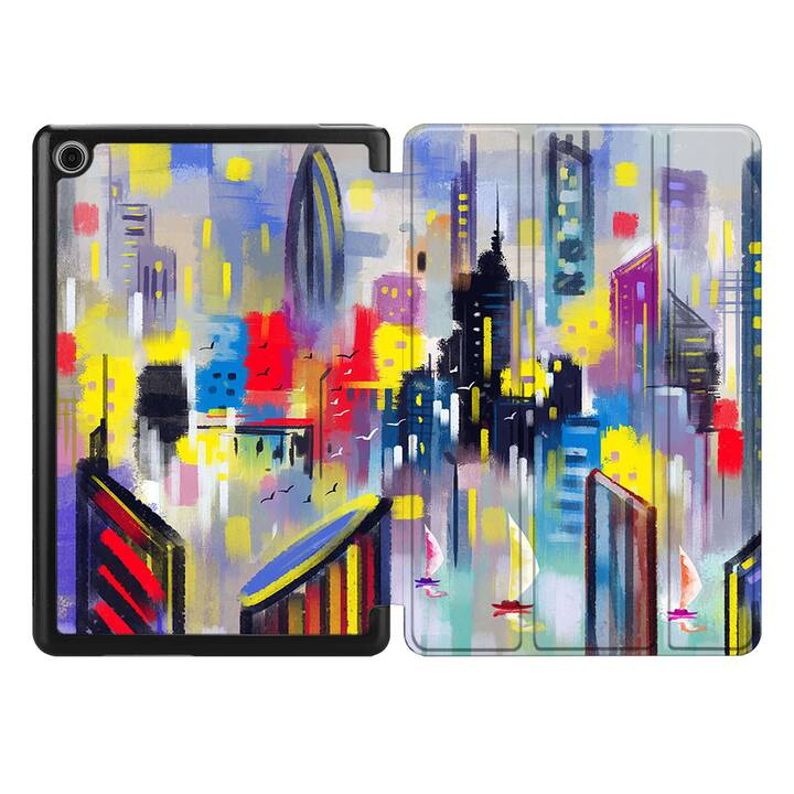 """EG MTT Coque pour HUAWEI MediaPad M5 8.4"""" 2018 - toile de paysage"""
