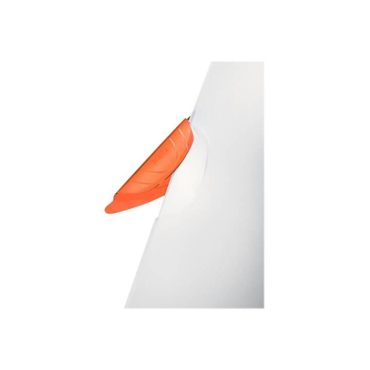 LEITZ Piqueuse à cheval à clip LEITZ Color Clip A4 orange