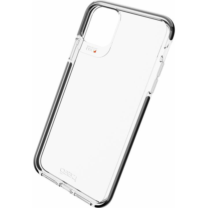 GEAR4 Backcover D3O Piccadilly  (iPhone 11 Pro Max, Transparent, Schwarz)