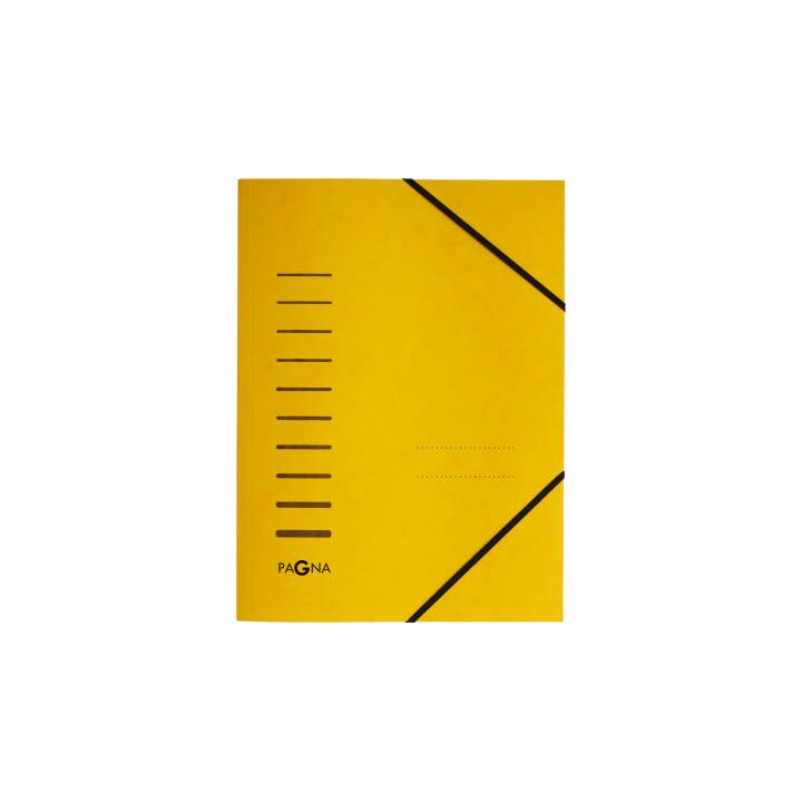 PAGNA Gummibandmappe A4 gelb