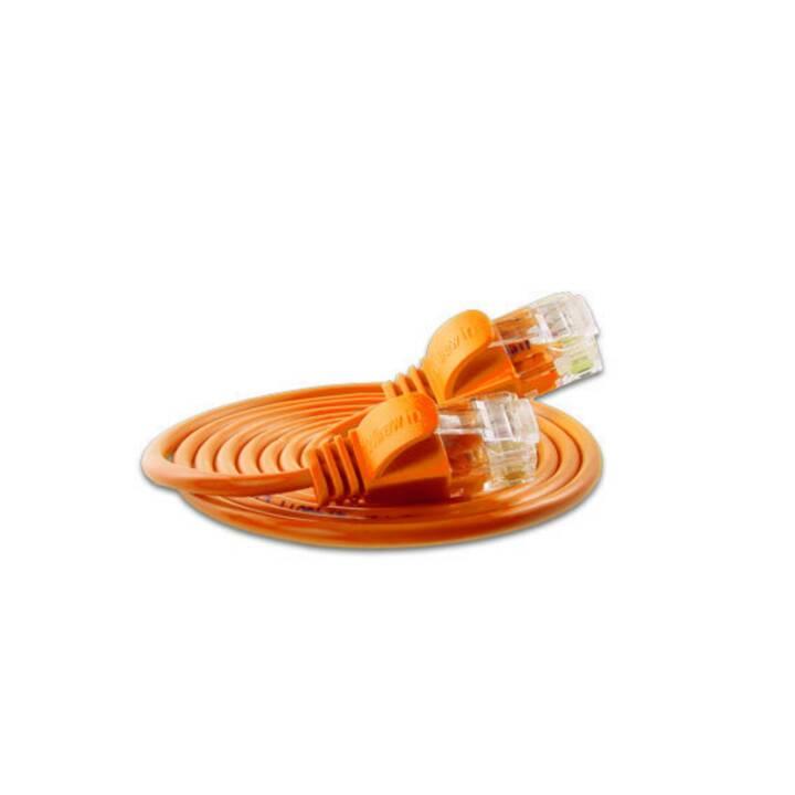 WIREWIN PKW-LIGHT-K6 3.0 OR Câble réseau (Fiche RJ-45, 3 m)