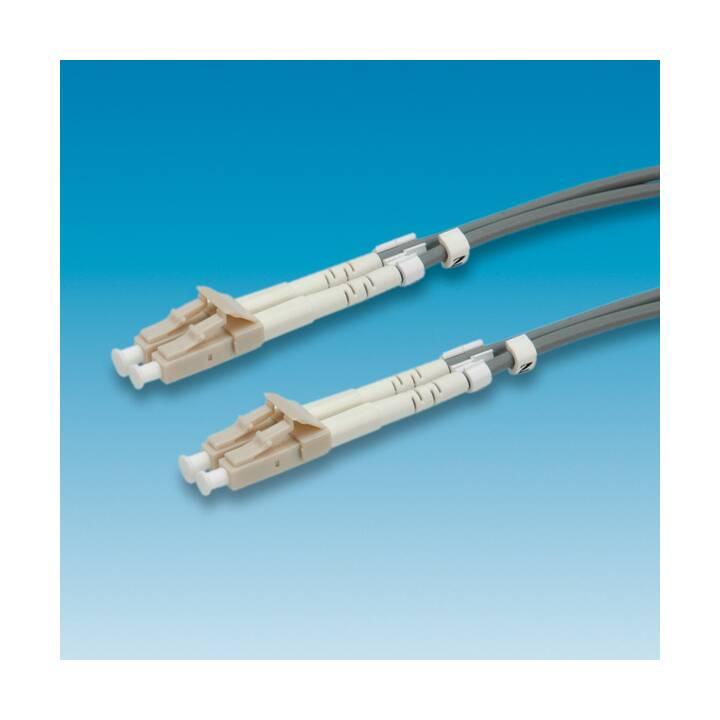 ROLINE LWL - câble patch - 10 m - gris
