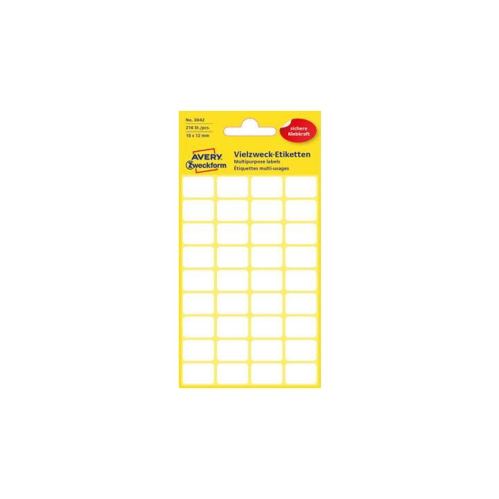 AVERY ZWECKFORM Etiketten (18 × 12 mm, 6 Blatt)