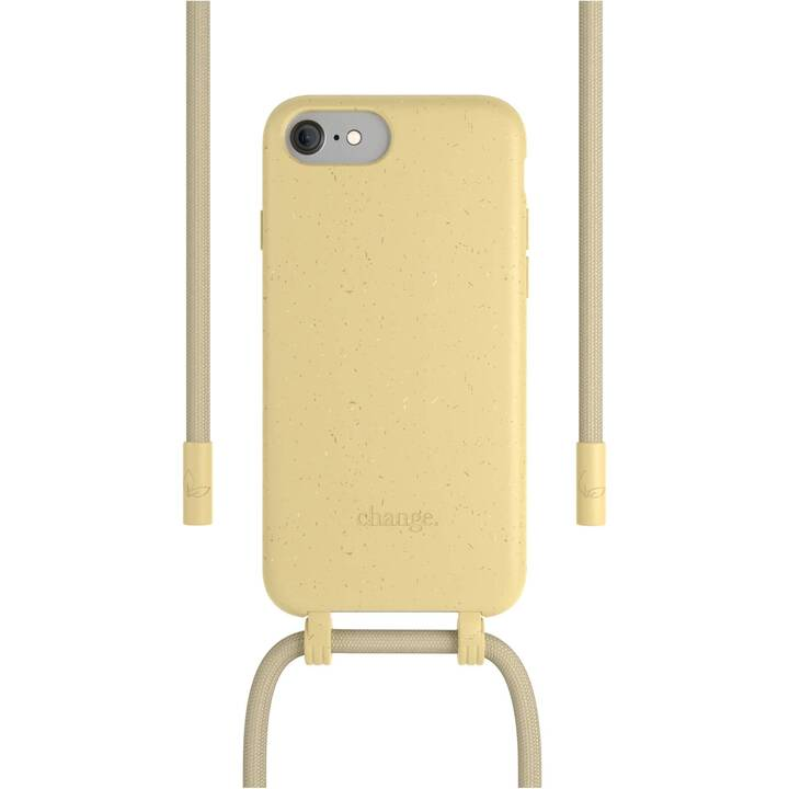 WOODCESSORIES Backcover con cordoncino Change Case (iPhone SE 2020, iPhone 6s, iPhone 7, iPhone 8, iPhone 6, Giallo)