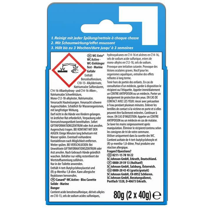 WC-ENTE Détergent pour WC WC Active 3in1 Marine (40 g)