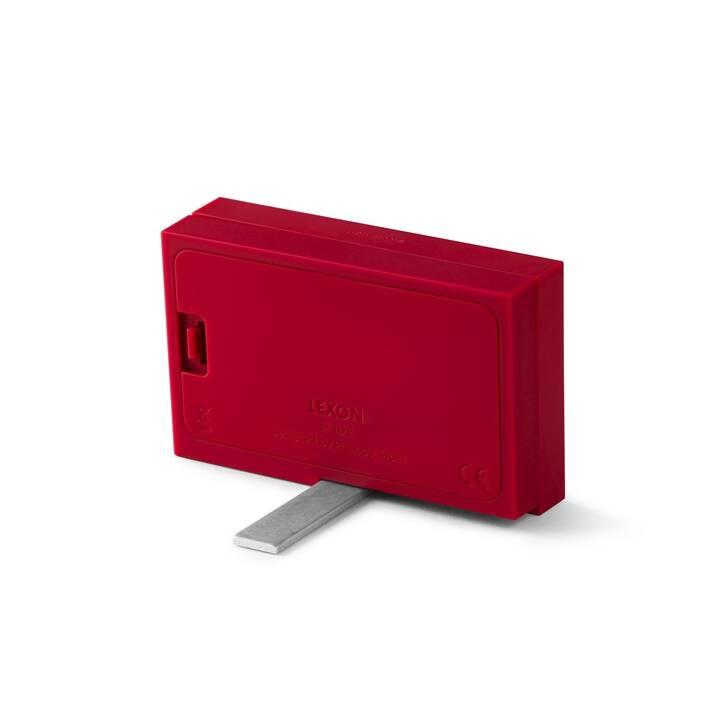 LEXON Klassischer Wecker Slide (Rot)