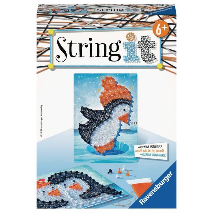 RAVENSBURGER String it Mini Pinguin Fadenbild (Fädeln)