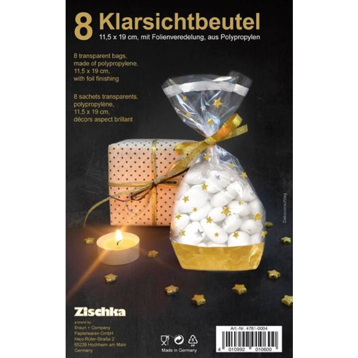 BRAUN + COMPANY Weihnachtsgebäck-Beutel Stars
