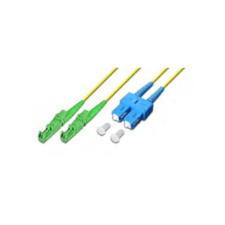 LIGHTWIN LDP-09 E2/APC-SC 15.0 15m E-2000 (APC) SC Câble fibre optique jaune SC