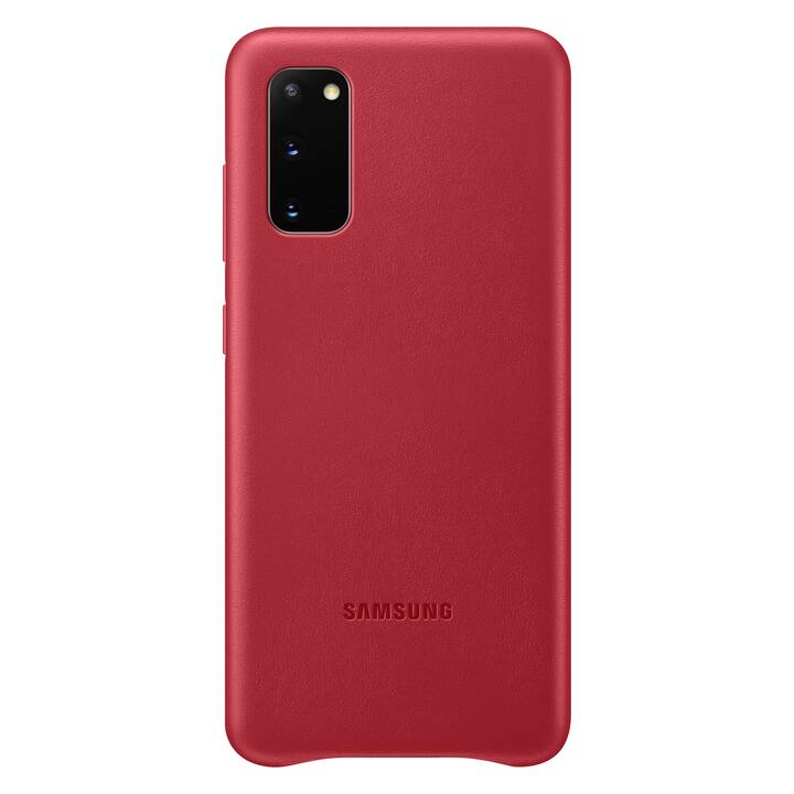 SAMSUNG Backcover Leather (Galaxy S20, Rosso)