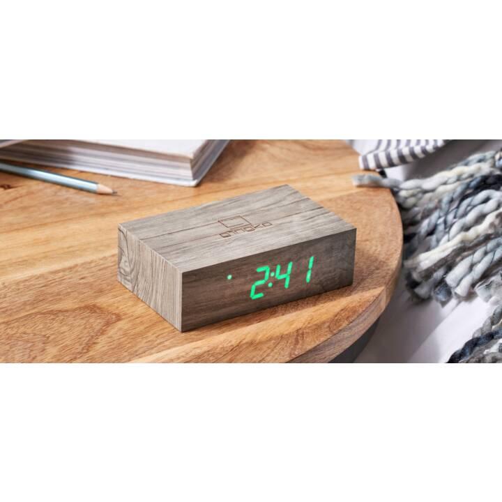 GINGKO Klassischer Wecker Flip Click Clock (Braun)
