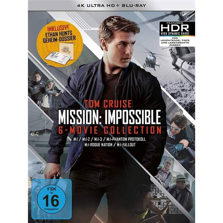Mission Impossible 1-6 (4K Ultra HD, EN, DE)
