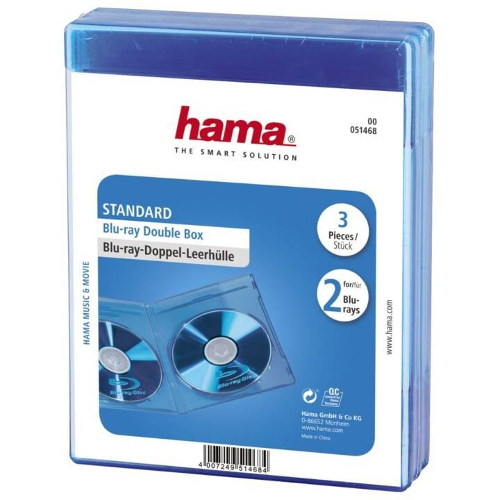 HAMA Blu-Ray à double manchon vide Standard, 3 pièces