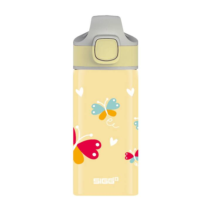 SIGG Gourde enfants Miracle Butterfly (0.4 l, Jaune)