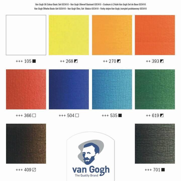 VAN GOGH Colori ad olio (200 ml, Giallo, Rosso, Blu, Arancione, Blu scuro, Marrone, Pink, Nero, Bianco, Verde)
