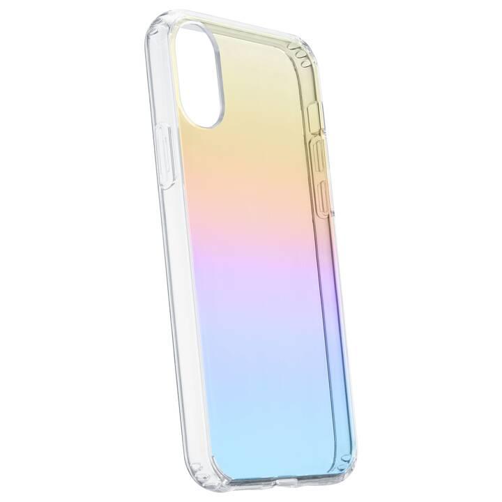 CELLULAR LINE Backcover Prisma  (iPhone XR, Mehrfarbig, Transparent)
