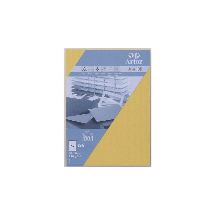 ARTOZ Blankokarte (Universal, A6, Gelb)