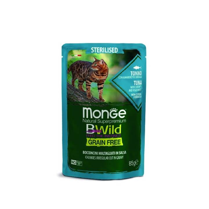 MONGE Cat Bwild (Adulto, 85 g, Pesce)