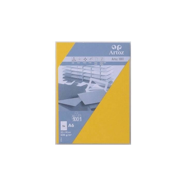ARTOZ Cartes en blanc (Universel, A6, Jaune)