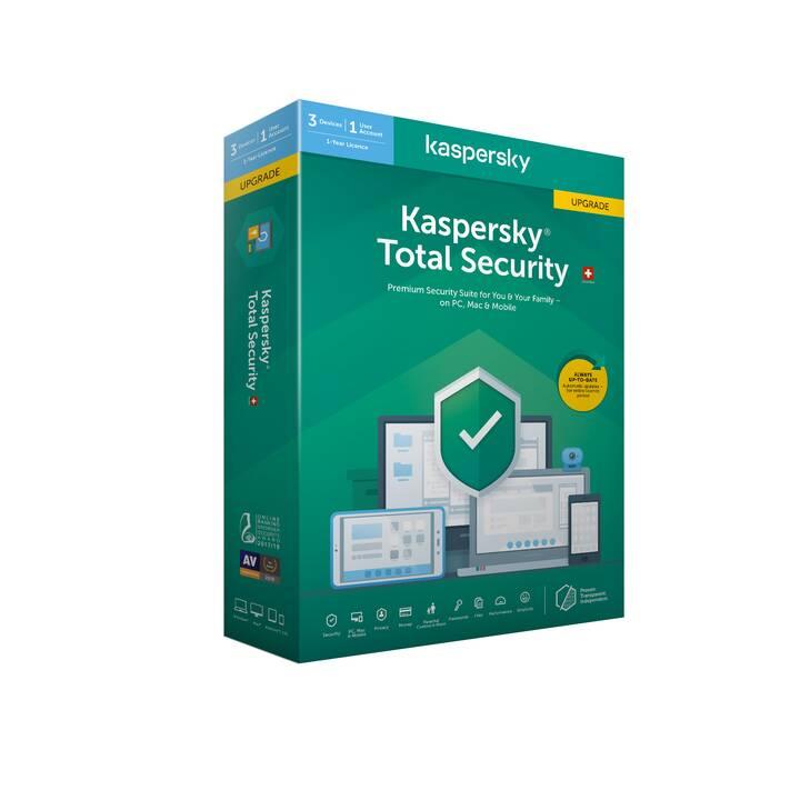 KASPERSKY LAB Total Security Base (Upgrade, Italienisch, Deutsch, Französisch)