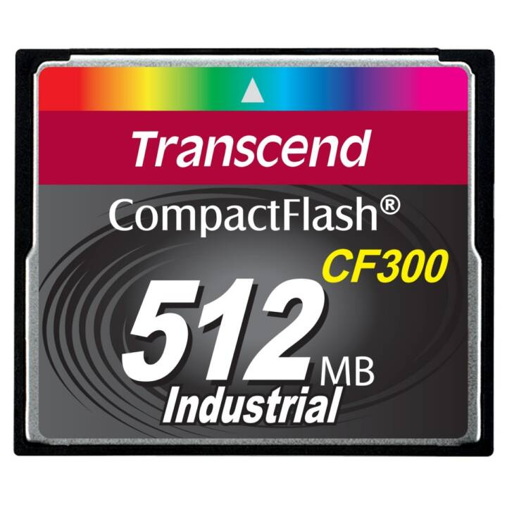 TRANSCEND Compact Flash CF300 Industrial (512MB)