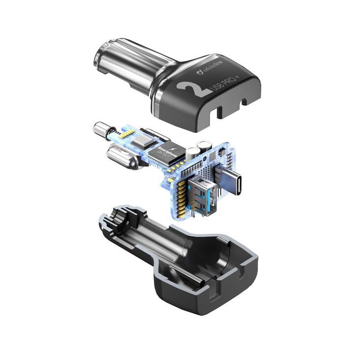 CELLULAR LINE Caricabatteria auto (36 W, Presa accendisigari, USB di tipo A, USB di tipo C)