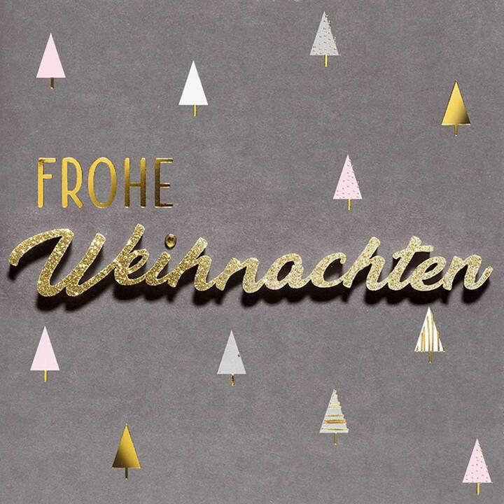 PERLEBERG Weihnachtskarte (Weihnachten / Advent, Schwarz, Gold)