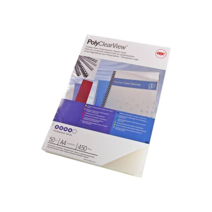GBC cover Pellicola di copertura Polyclearview, trasparente, A4