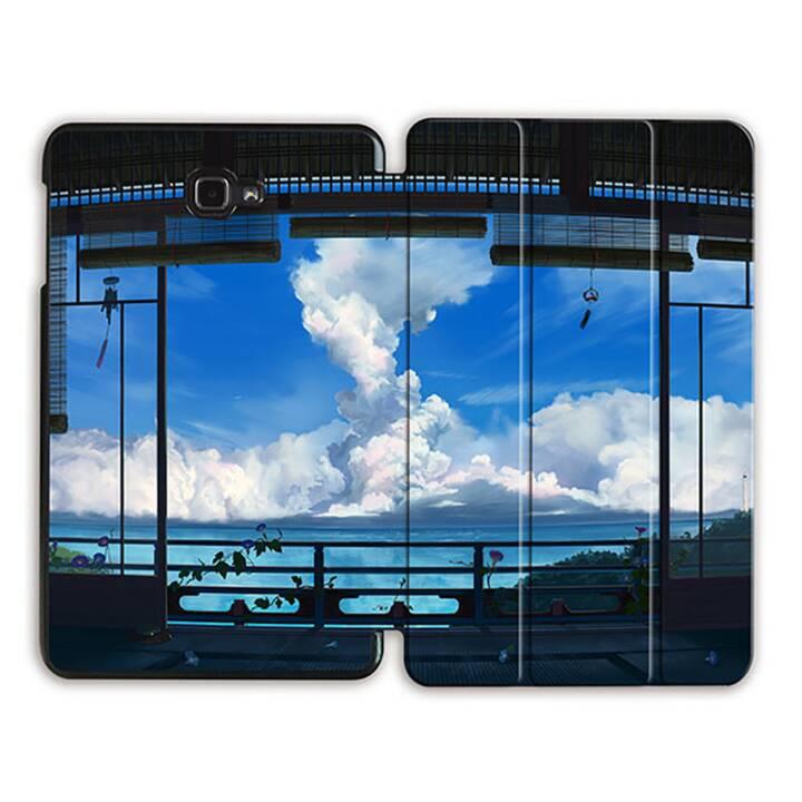 """EG MTT Tablet Tasche mit Smart faltbare Abdeckung für Samsung Galaxy Tab A 10.1"""" (2016)- Sky"""