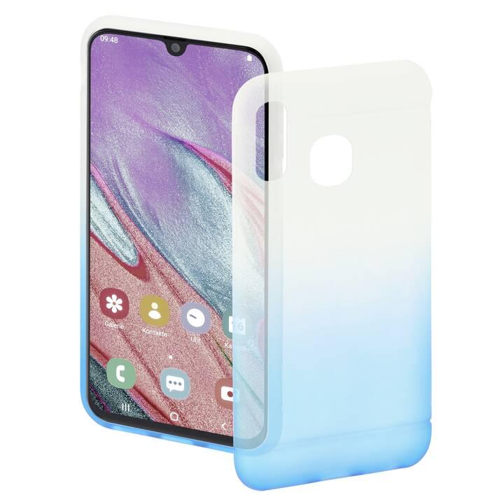 HAMA Backcover Colorful (Galaxy A40, Blu, Transparente)