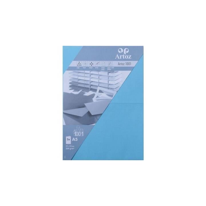 ARTOZ Cartes en blanc (Universel, A5, Bleu)