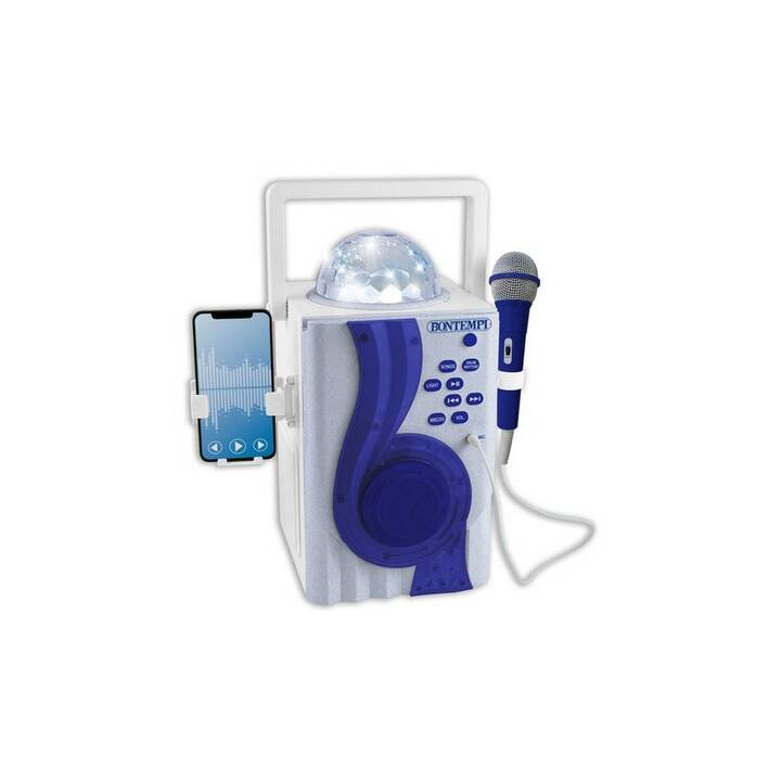 BONTEMPI Faire de la musique Karaoke Wireless Boom Box (Bleu)