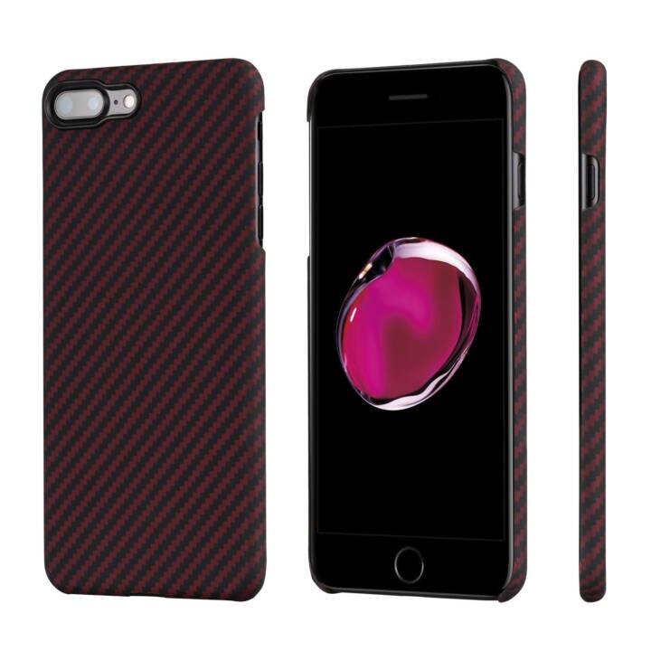 IPITAKA Backcover Aramid (iPhone 7 Plus, iPhone 8 Plus, Rosso, Nero)