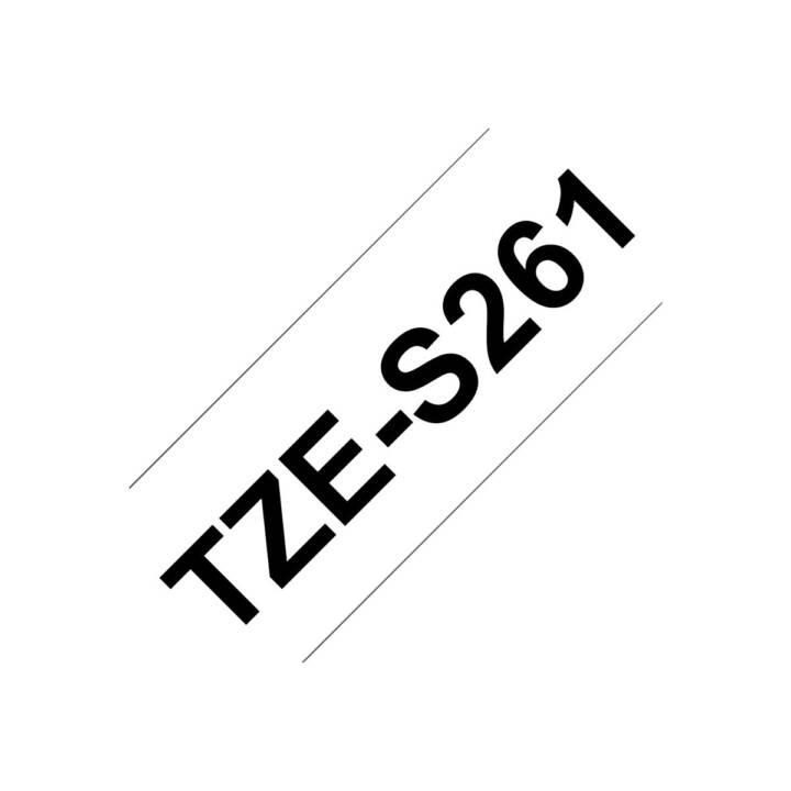 BROTHER TZeS261 Nastro delle scritture (36 mm x 8 m, Nero / Bianco)