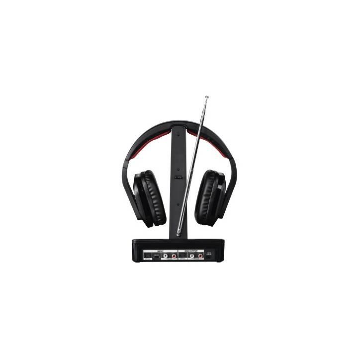 THOMSON Hama WHP5407 Schwarz, Rot Ohraufliegend Kopfband Kopfhörer