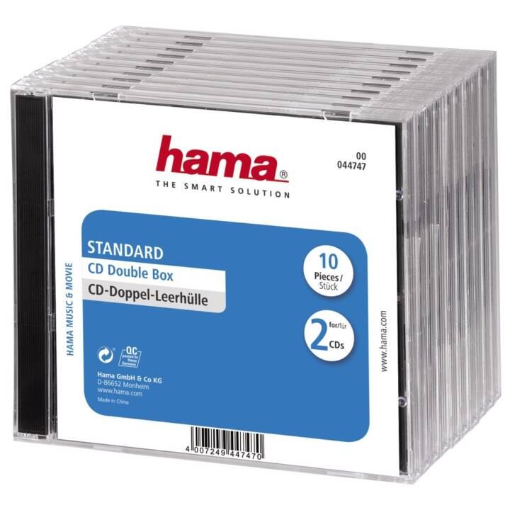 HAMA CD/DVD/BD Doppel-Leerhülle Standard, 10 Stück