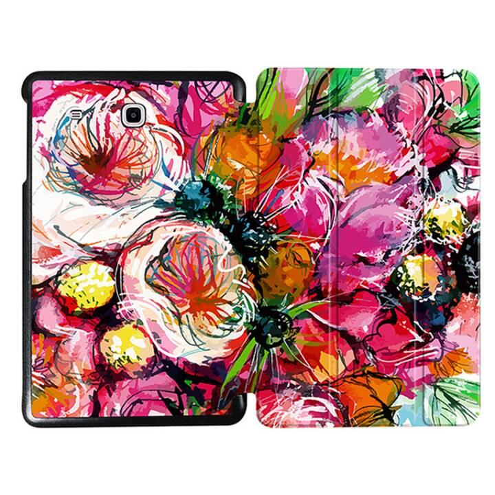 """EG MTT Tablet Tasche mit faltbarer Abdeckung für Samsung Galaxy Tab E 9.6 """"- Pink Flowers"""