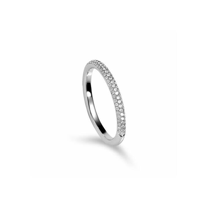 MUAU Anello accoppiamento (52, 0.25, Oro bianco, Diamante)