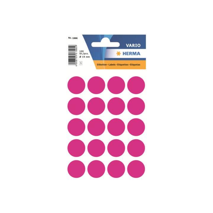 HERMA Etiketten (Rosa, Pink, 100 Etiketten)