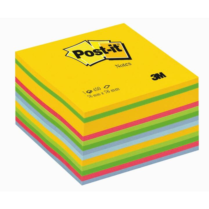3M Notizzettel Post-it 7,6 x 7,6 cm Würfel, Farbig