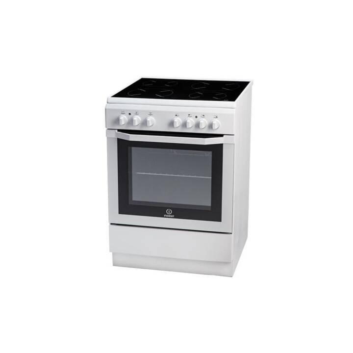 INDESIT Fornello da cucina con piastre I6VMH2A W/GR (Distaccato, 61 l, 400 V)