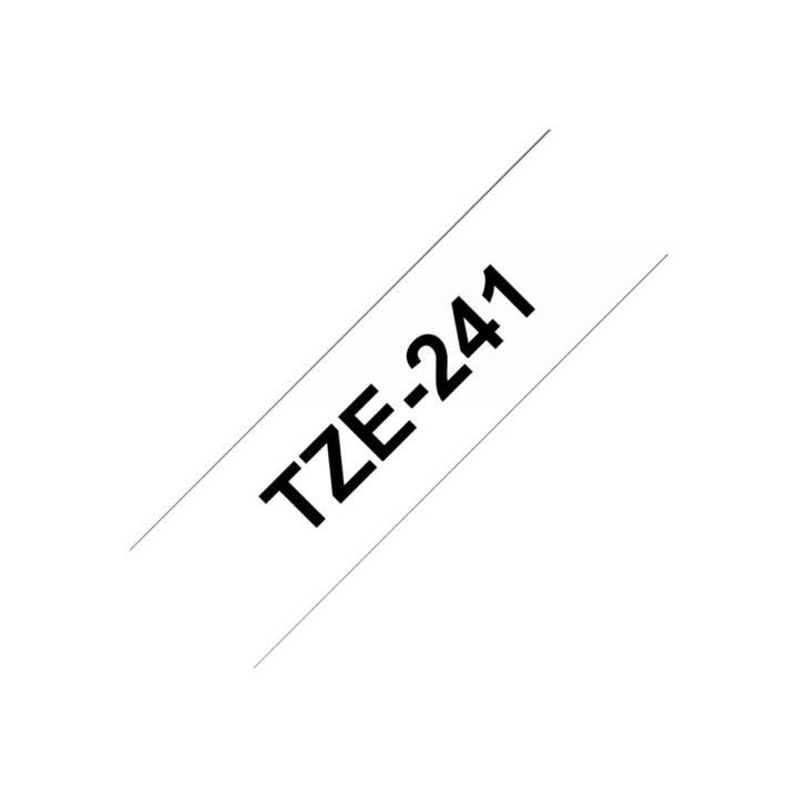 BROTHER TZe241 Schriftband (18 mm x 8 m, Schwarz / Weiss)